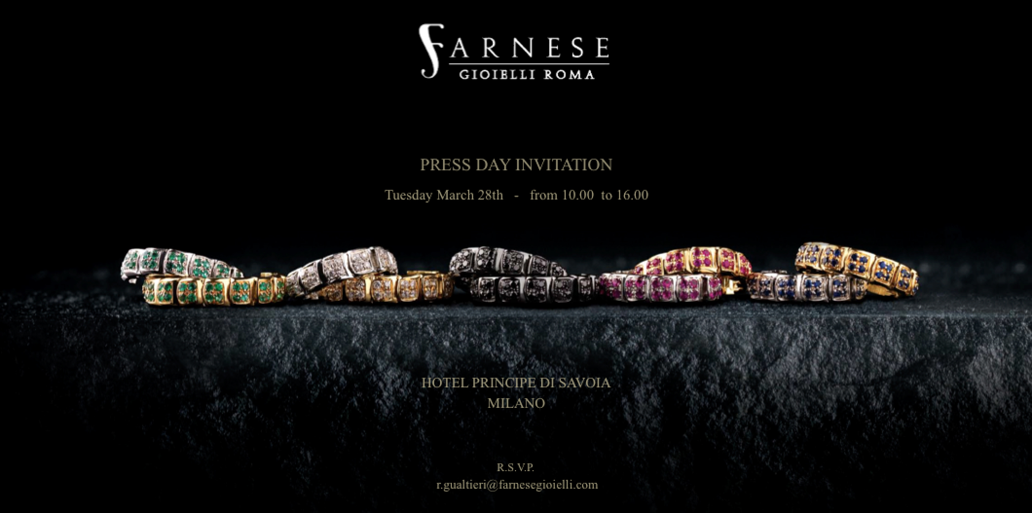 FARNESE PRESS DAY INVITATION