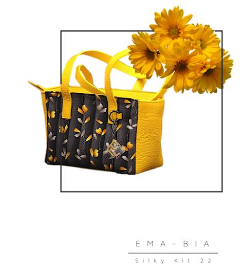 Silky22-giallo-nero-fiori