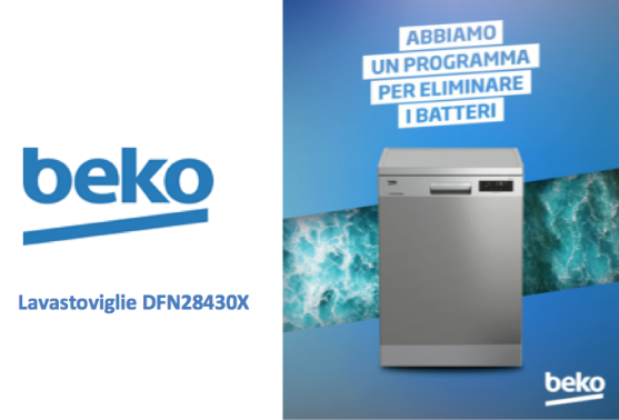 beko lavastoviglie DFN28430X